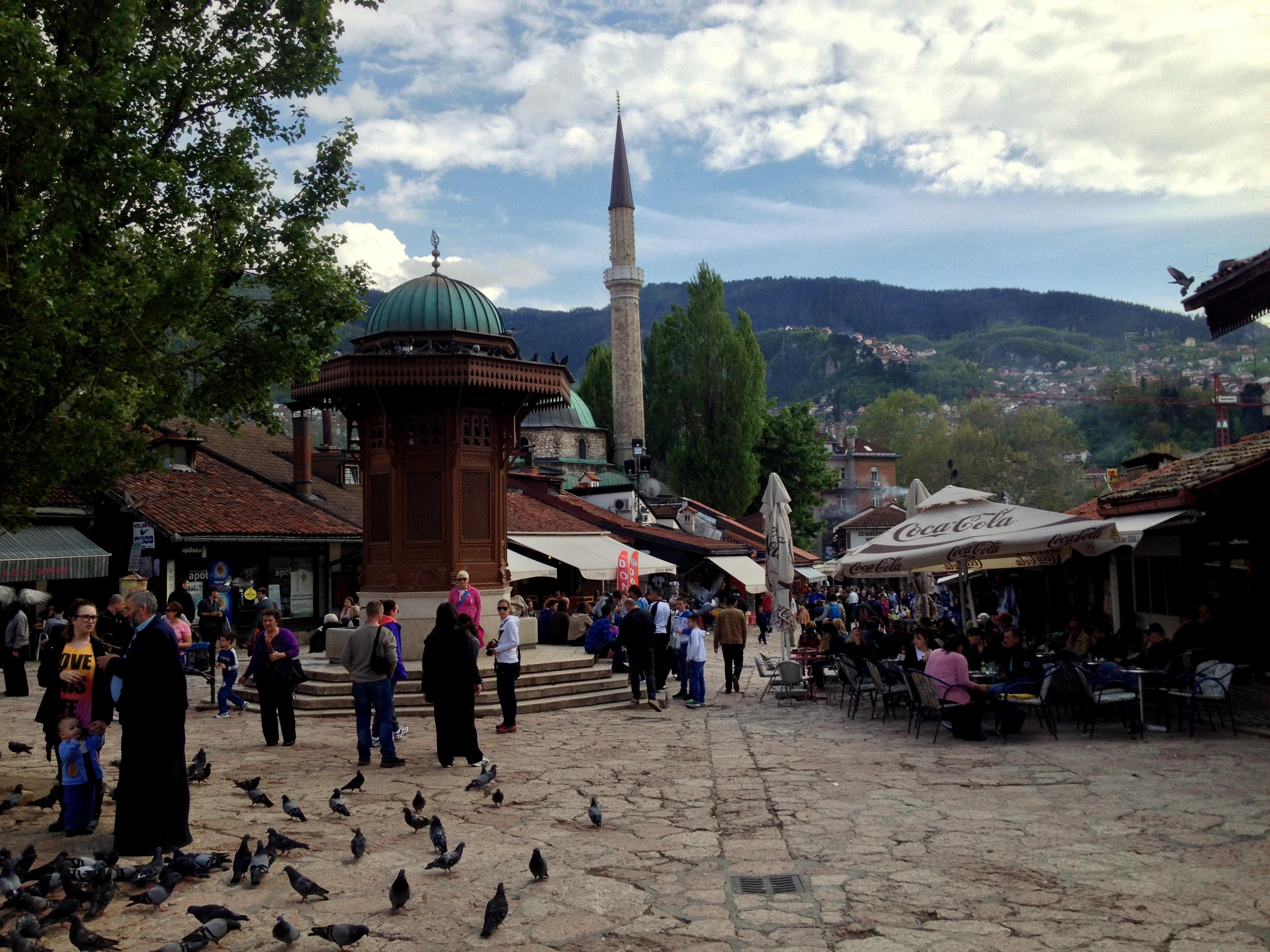 « La place des pigeons» de SarajevoBosnie-Herzégovine