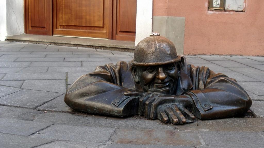 Cumil, homme des égouts, à Bratislava