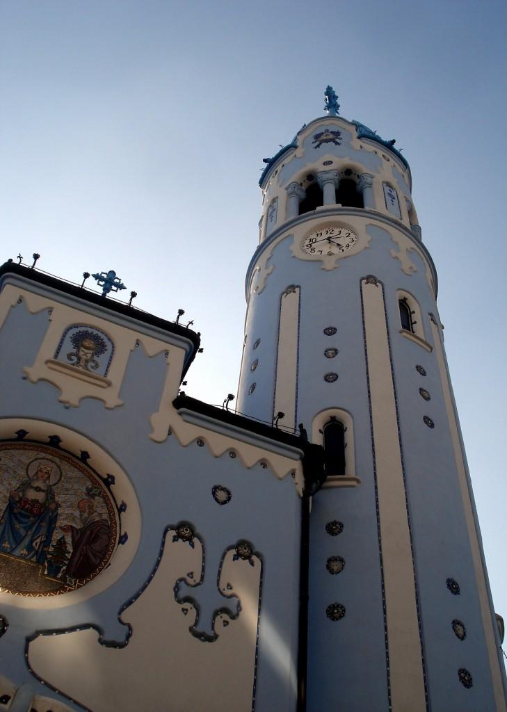 Église blueue Sainte-Élisabeth de Bratislava en Slovaquie