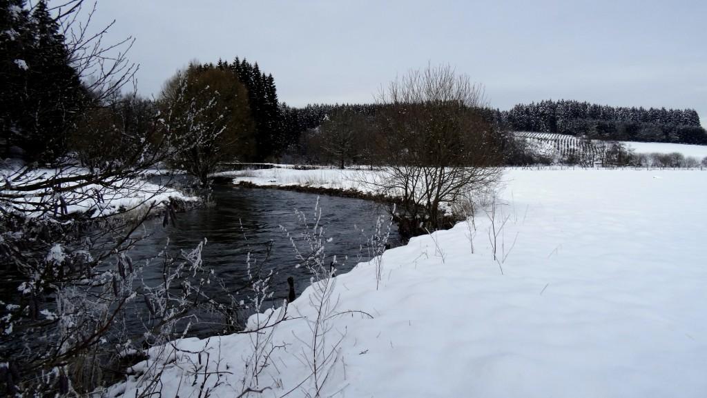 L'Ardenne belge en province du Luxembourg sous la neige