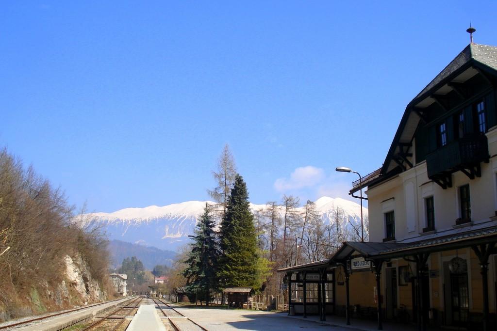 la gare de Bled, village carte postale en Slovénie