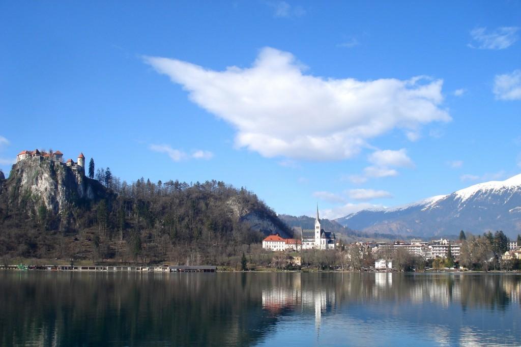 Le château du lac Bled en Slovénie