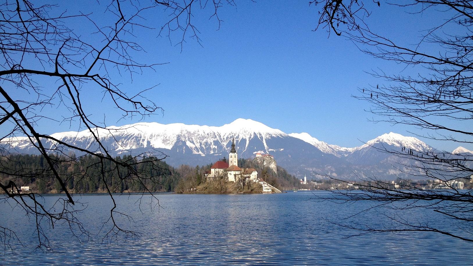 Lac Bled, paysage de carte postale