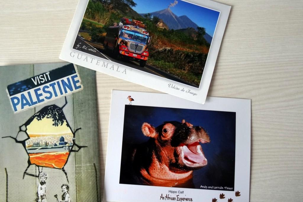 Cartes postales qui viennent de très loin