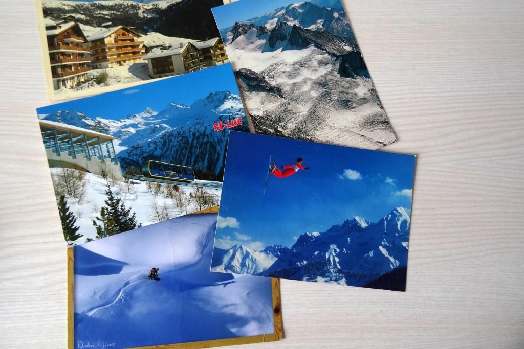 Cartes postales qui amènent du froid
