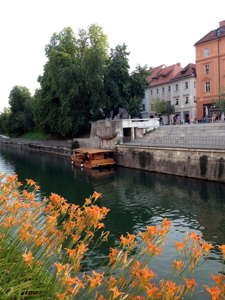 La rivière Ljubljanica à Ljubljana en Slovénie