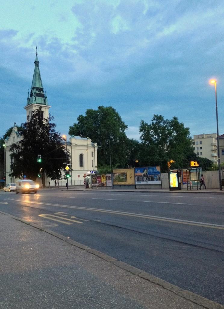fin de journée dans les rues de Ljubljana