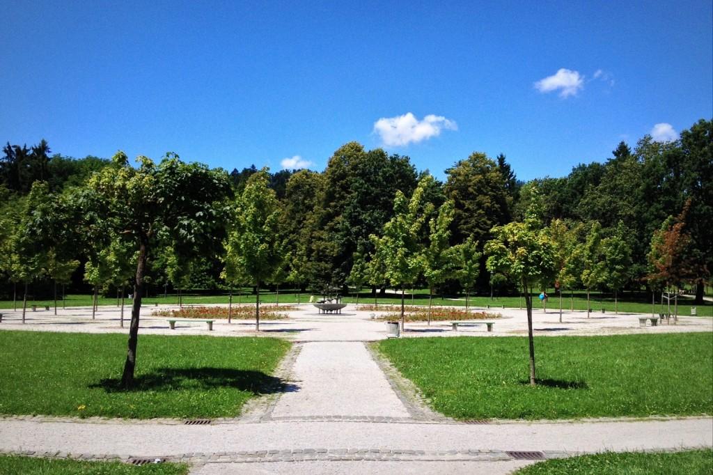 Parc Tivoli dans le centre de Ljubljana en Slovénie