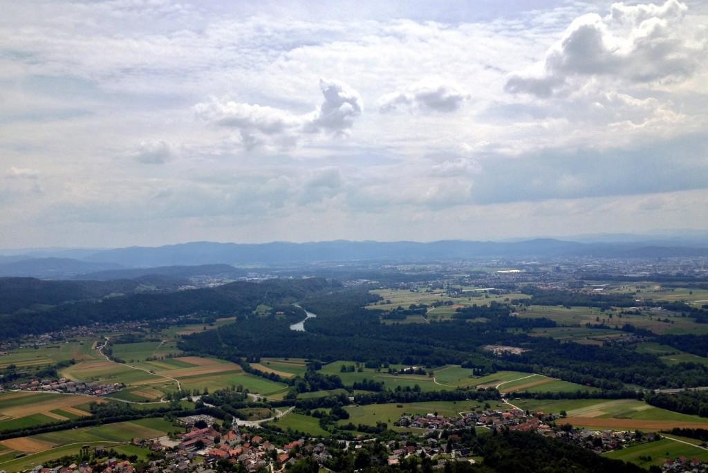 Vue depuis Šmarna Gora sur les alentours de Ljubljana