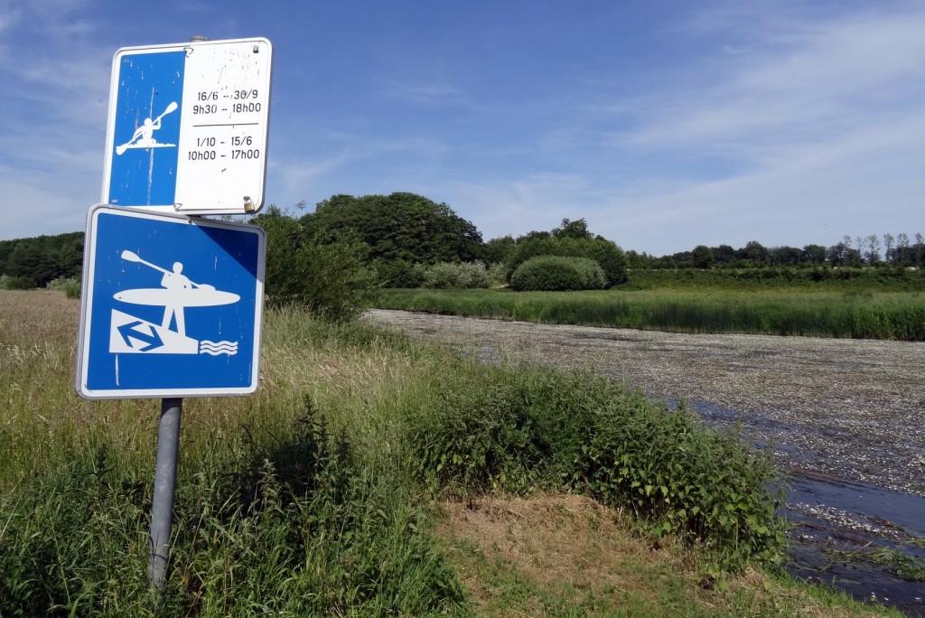 canoë kayak panneau de signalisation