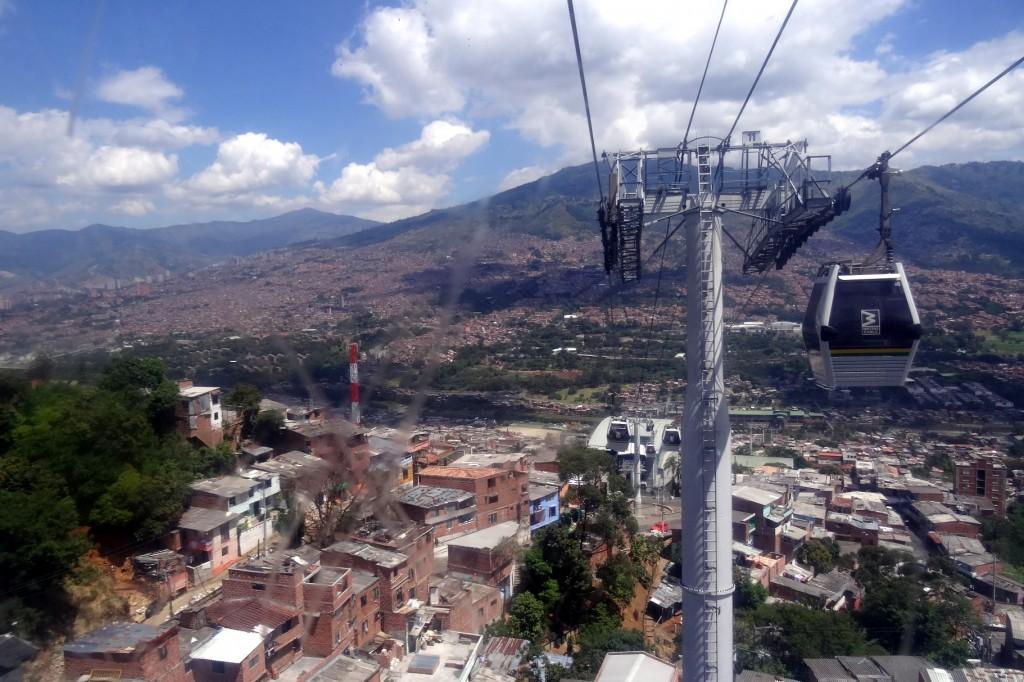 Comunas et métro câble de Medellin Antioquia Colombie