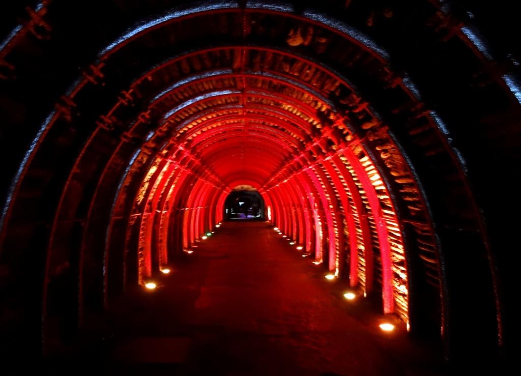 Tunnel et entrée de la Cathédrale de Sel de Zipaquira en Colombie