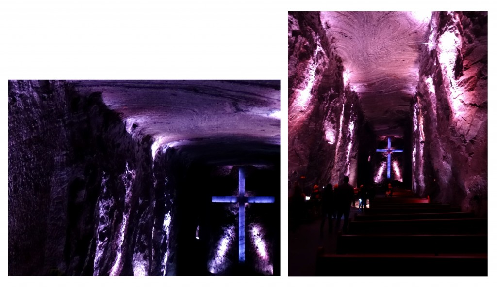 Grande croix dans la Cathédrale de Sel de Zipaquira en Colombie