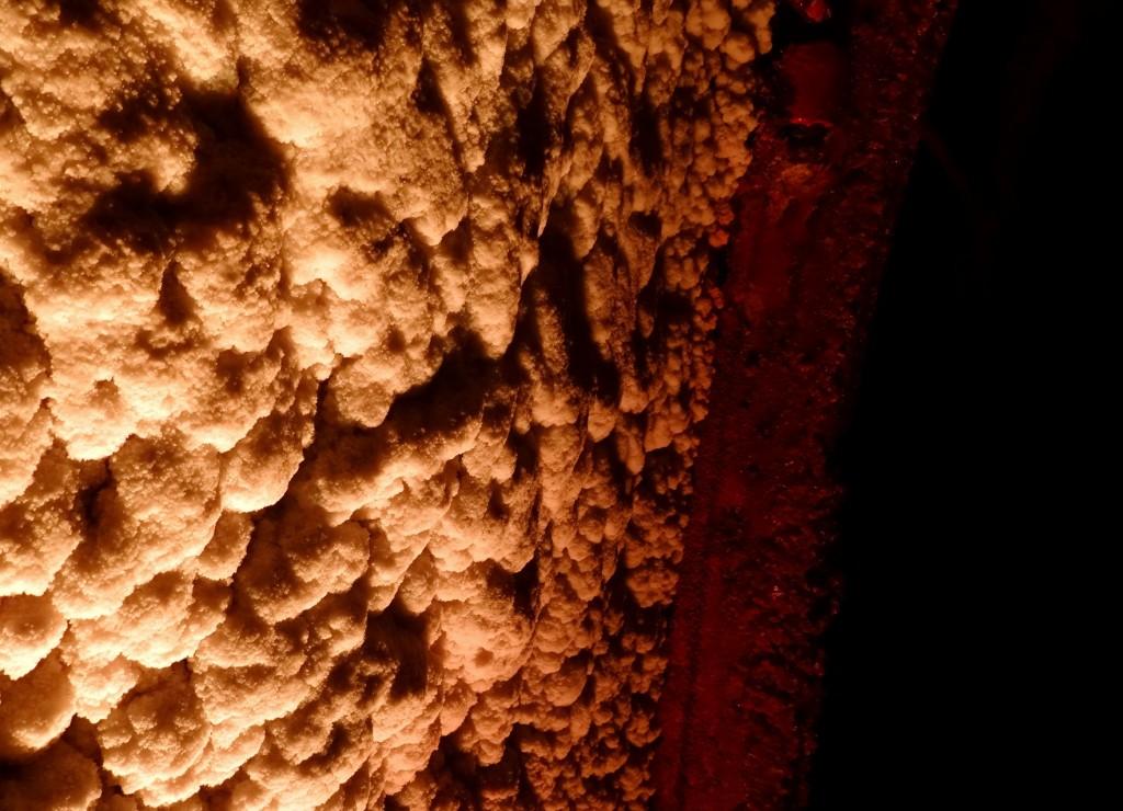 Mur de sel de la Cathédrale de Sel de Zipaquira en Colombie