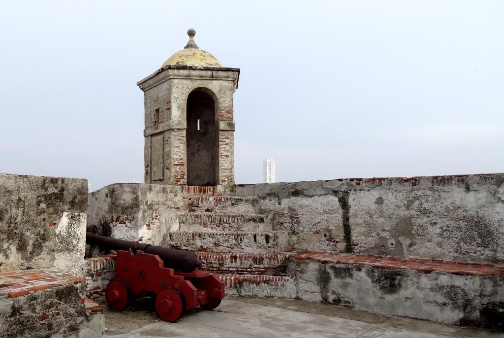 Canon au Castillo de San Felipe de Barajas à Carthagène des Indes