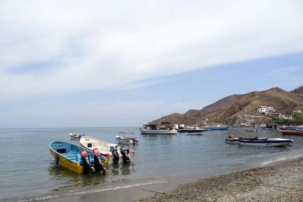 Bâteau de pêche à Taganga Colombie