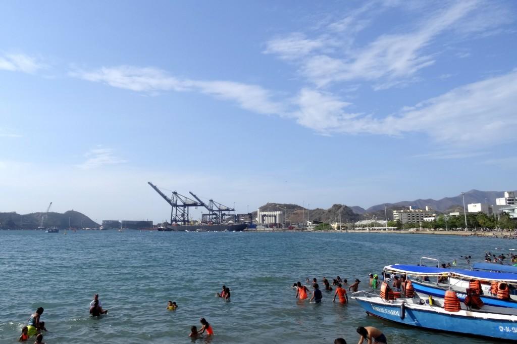 Port et plage de Santa Marta Colombie