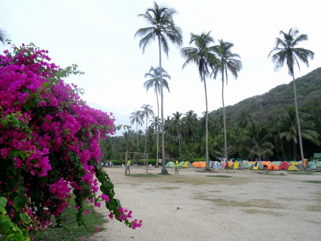 Camping et terrain de football à Cabo San Juan Tayrona en Colombie