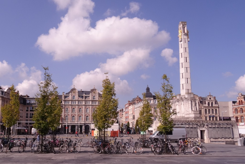 Vue depuis la gare de Leuven