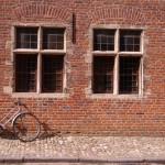 Vélo dans le grand béguinage à Louvain