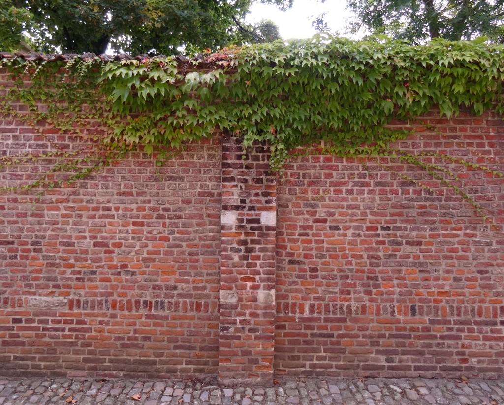 Mur de brique à Louvain
