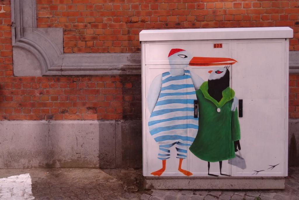 Street art graffiti à Louvain
