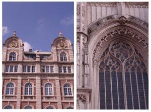 Façades des maisons à Louvain