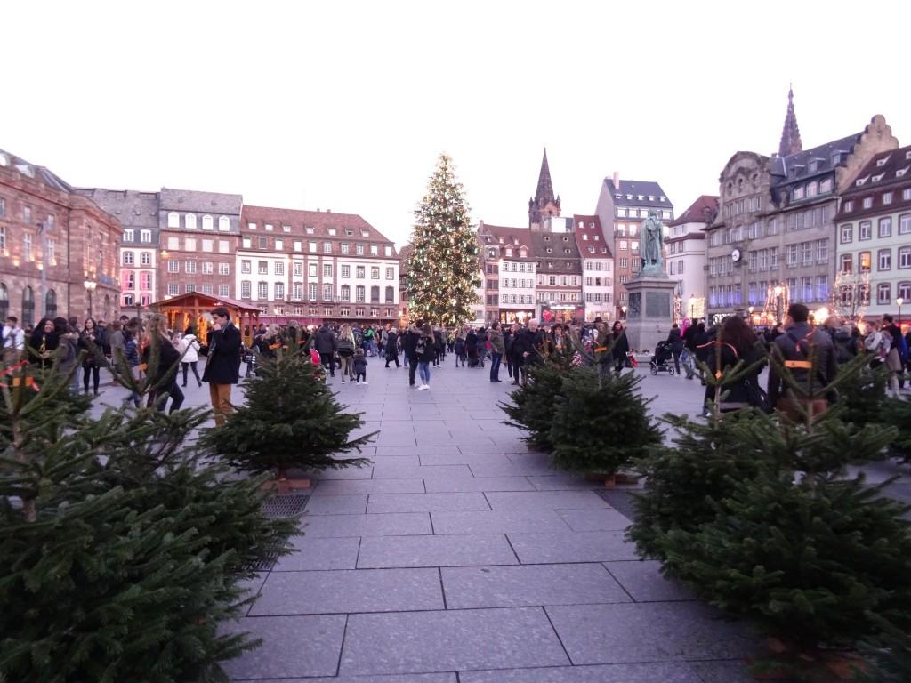 La place Kléber et son sapin de Noël 2015 à Strasbourg