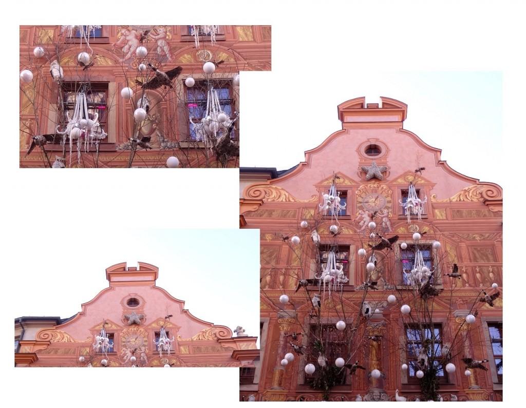 Façade décorée pour le marché de Noël de Strasbourg