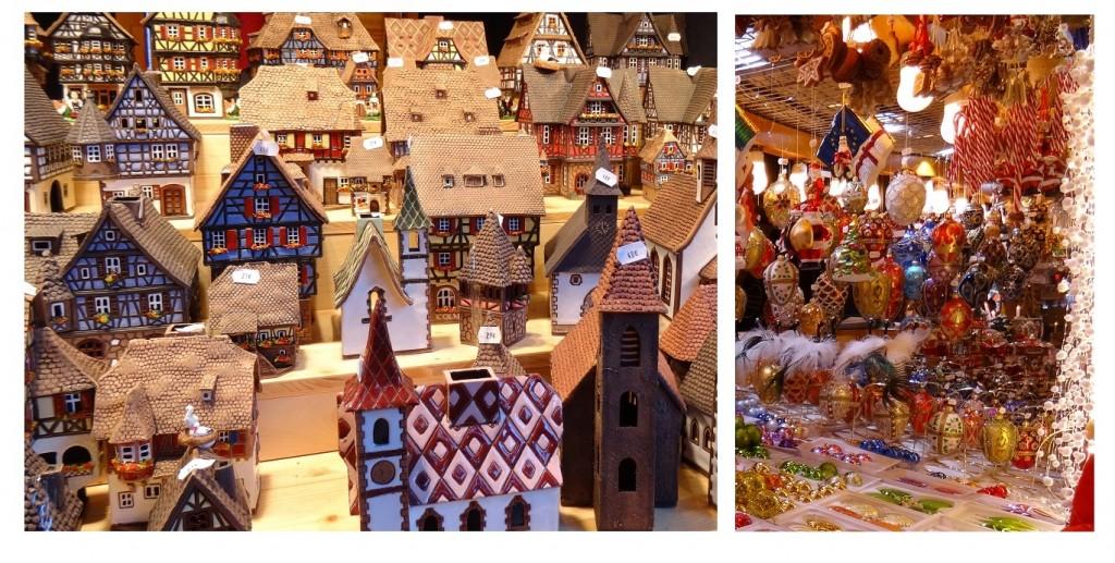 Petites maisons et décorations de Noël à Strasbourg