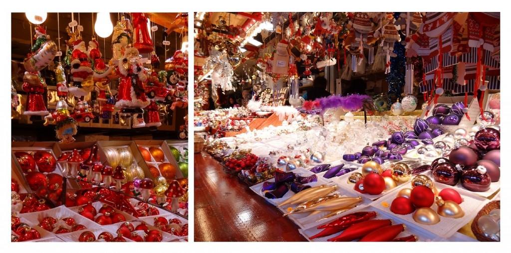 Décorations de Noël sur le marché à strasbourg