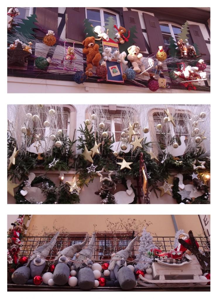 Jolies décorations de Noël des commerces à Strasbourg