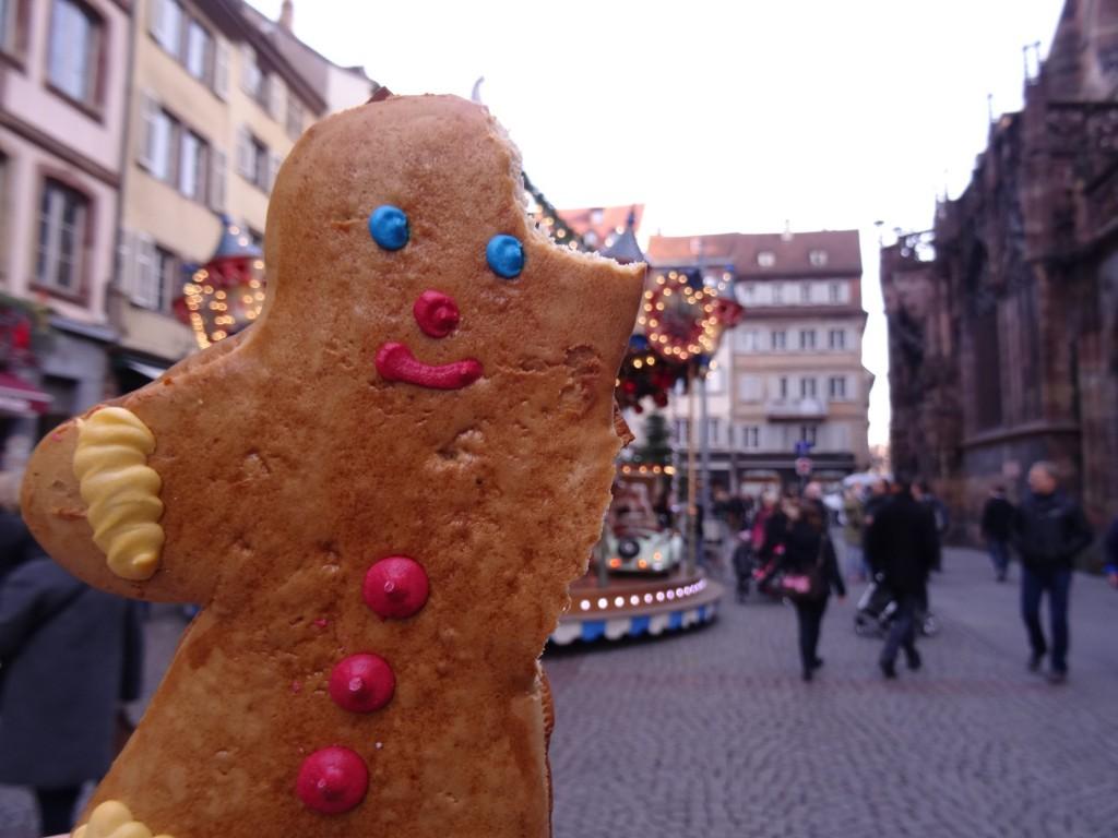 Gingerbread man Marché de Noël Strasbourg