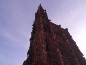 Façade est de la cathédrale Notre-Dame à Strasbourg