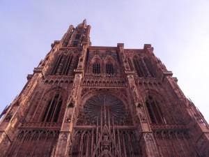 Façade est et entrée de la cathédrale de Strasbourg