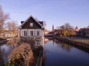 Maison sur le square des moulins à Strasbourg - Petite France