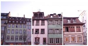 Jolies maisons colorées dans les rues de Strasbourg