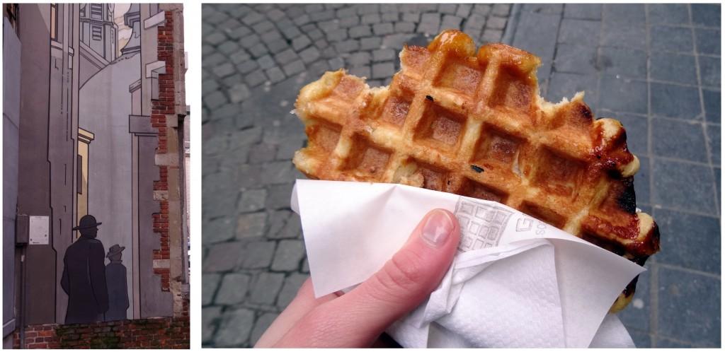 Bruxelles froide mais belle - Cookie et Attila 2