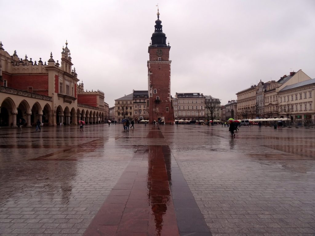 Grand place du marché principal de Cracovie