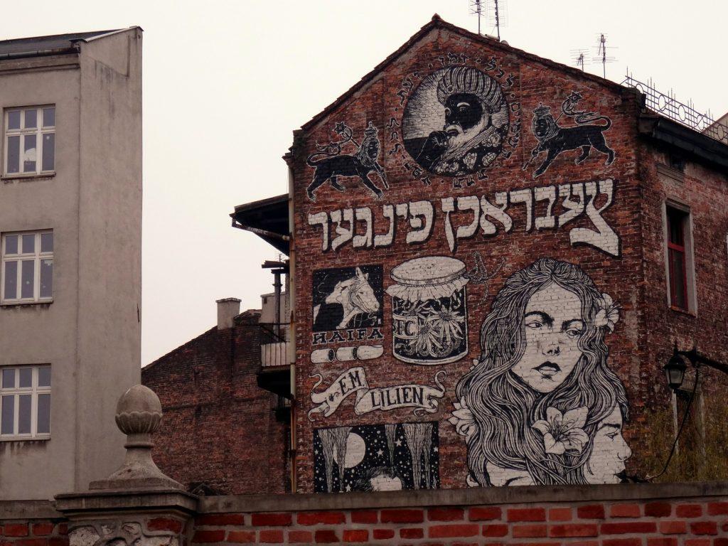 Street art dans le quartier juif de Cracovie