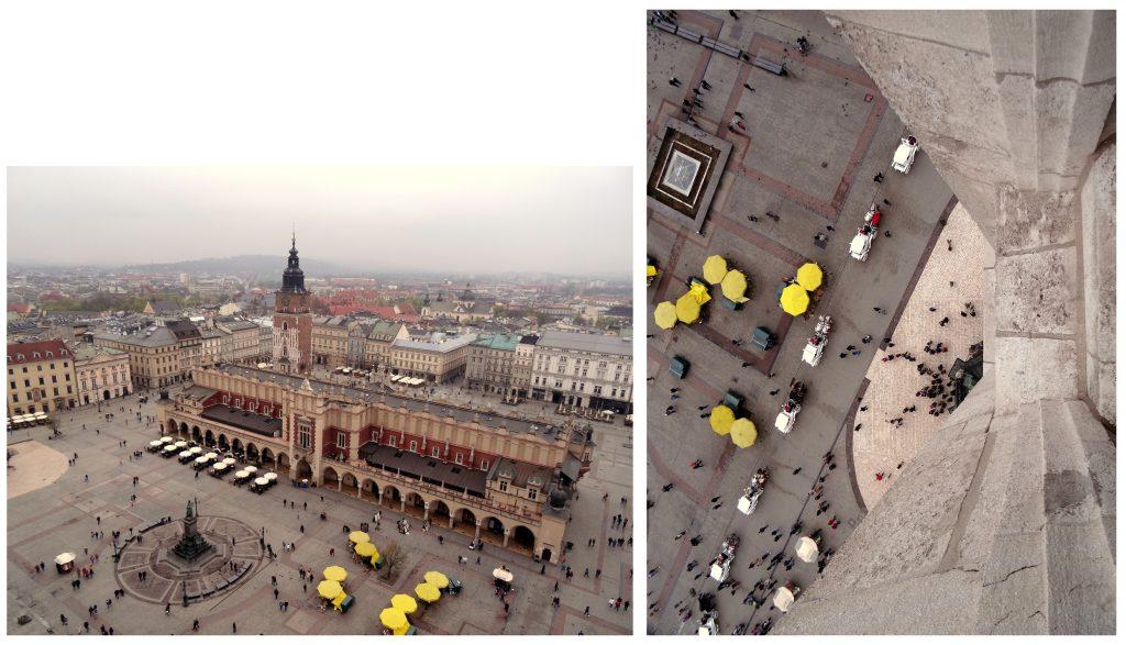 Vue sur le centre ville de Cracovie