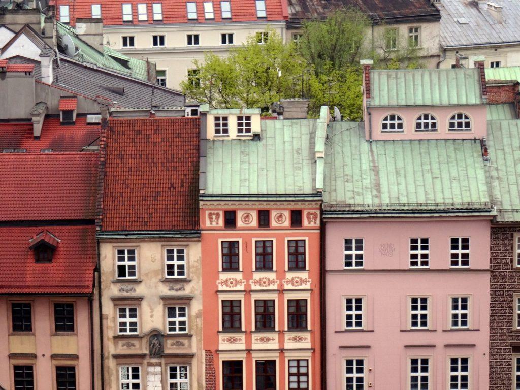 Maisons colorées de Cracovie