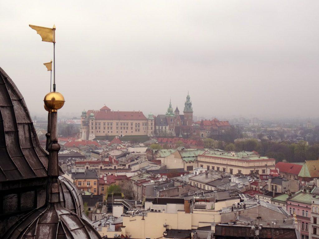 Vue sur le château de Cracovie