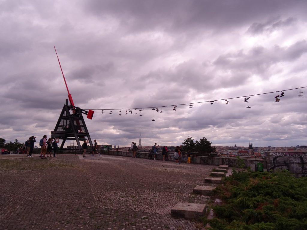 Le métronome au parc Letna à Prague