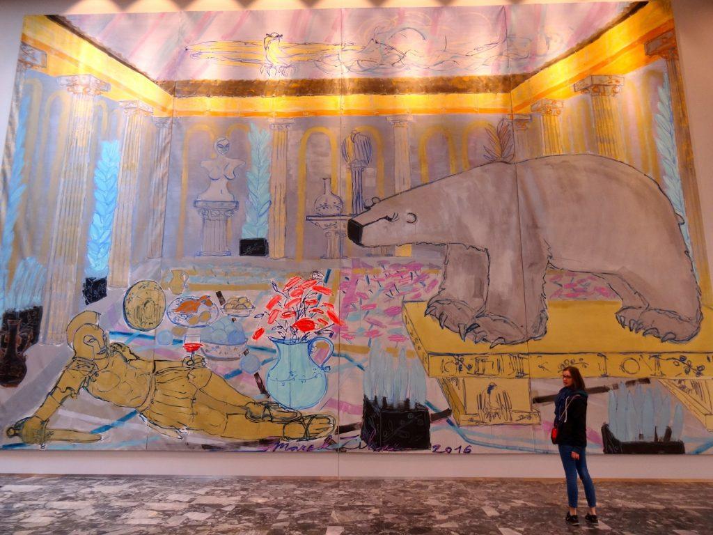 Peinture dans l'hôtel Courtyard Marriott à Brno