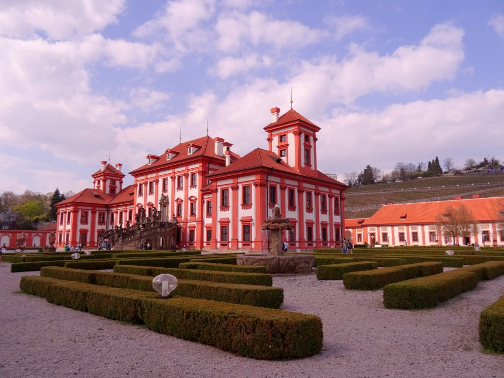 Troja castle and its gardens in Prague, Czech Republic