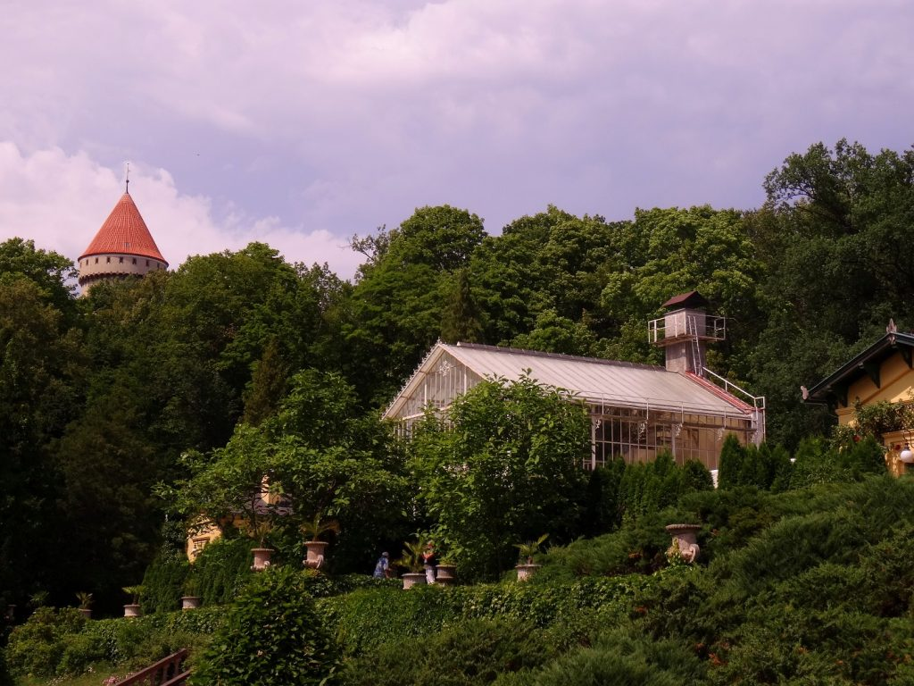 Castle and Botanical of Konopiste in Czech Republic