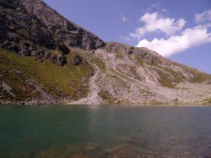 La Kratzberger See (Lago S. Pancrazio) dans le Sud du Tyrol en Italie