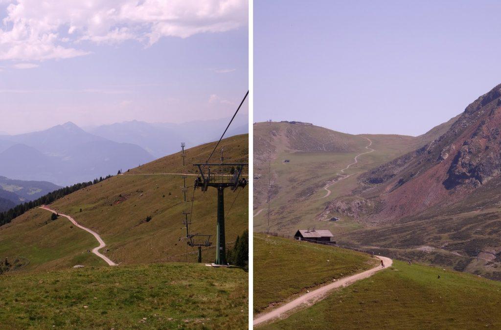 Télé-sièges non loin de Merano 2000 à Falzeben