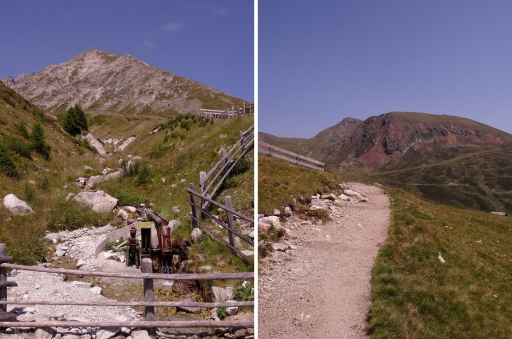 Ruisseau et eau fraîche dans les montagnes du Tyrol du Sud